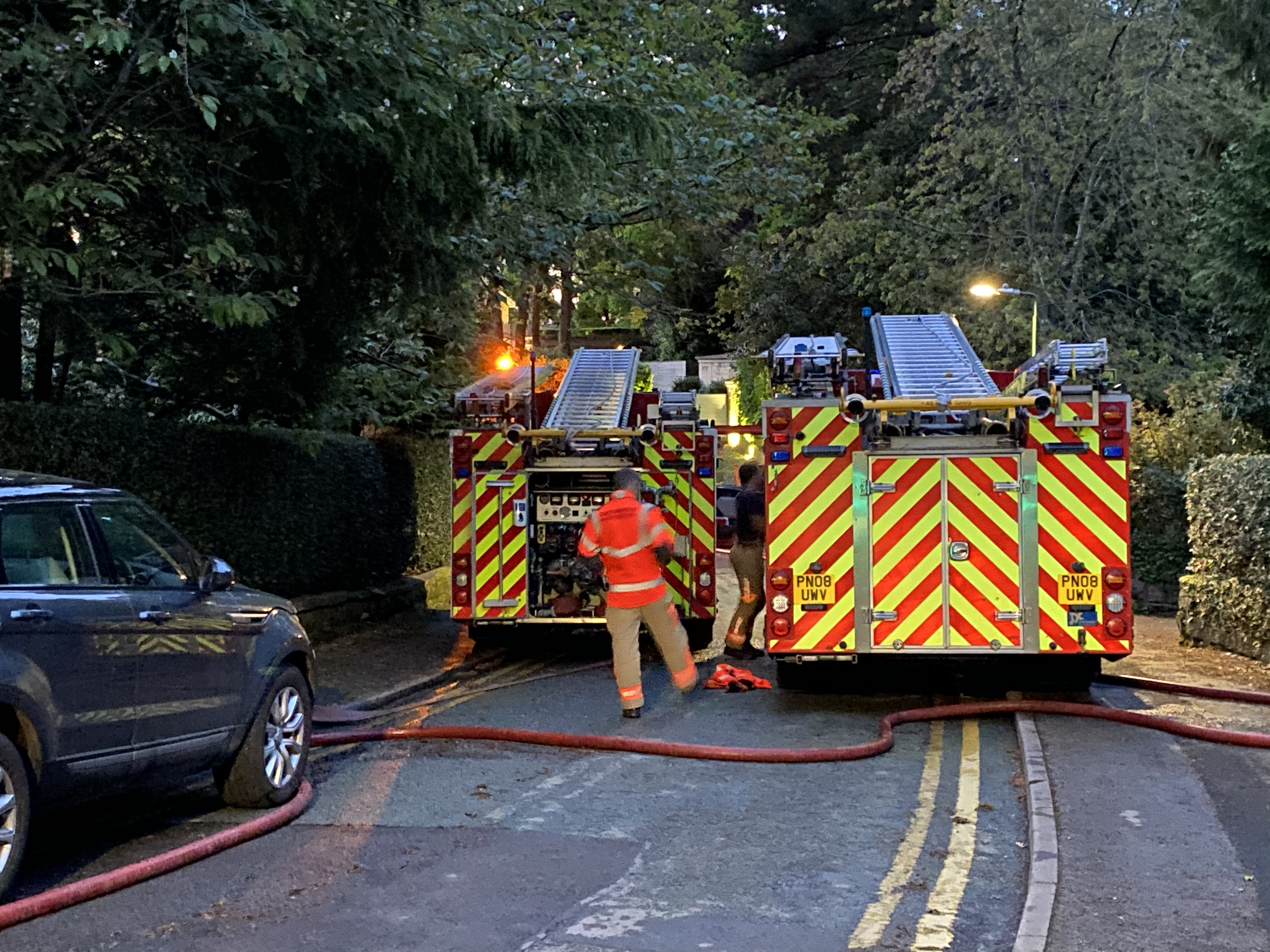 Fire crews attend large house fire in Alderley Edge