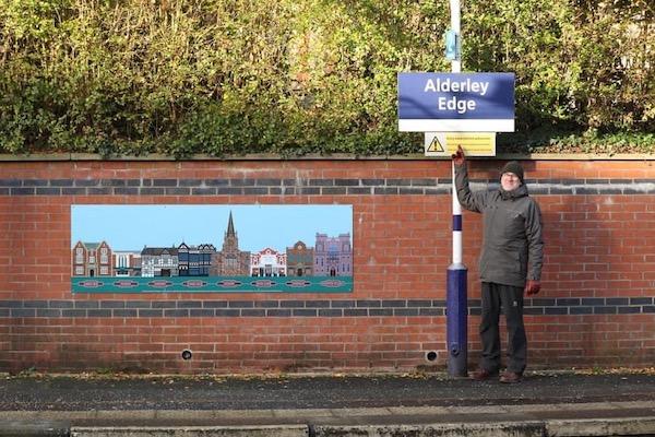 Creating a scene at Alderley Edge Station